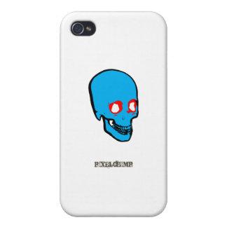 Color del gráfico del cráneo iPhone 4 protectores