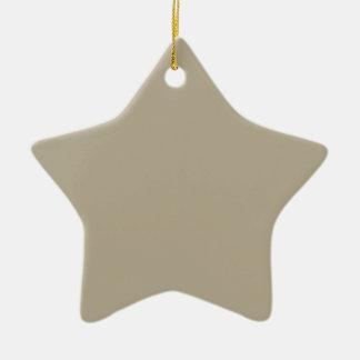 Color del gris de Nantucket Adorno Navideño De Cerámica En Forma De Estrella