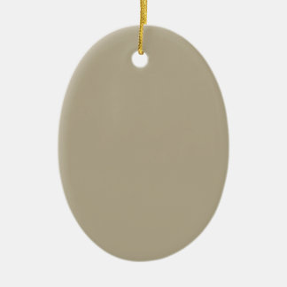 Color del gris de Nantucket Adorno Navideño Ovalado De Cerámica