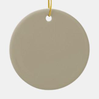 Color del gris de Nantucket Adorno Navideño Redondo De Cerámica