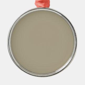 Color del gris de Nantucket Adorno Navideño Redondo De Metal
