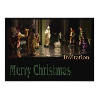 Color del grupo del navidad invitación 12,7 x 17,8 cm
