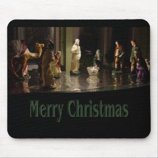 Color del grupo del navidad alfombrilla de raton