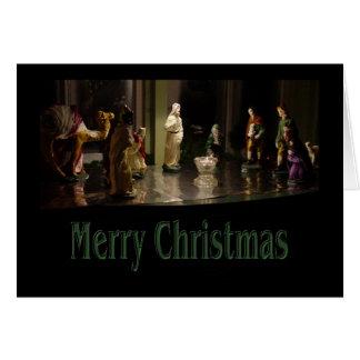 Color del grupo del navidad tarjeta pequeña