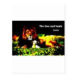 Color del león y del cordero postal