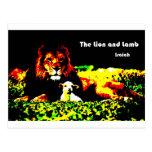 Color del león y del cordero postales