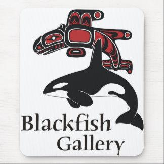 Color del logotipo de la galería del Blackfish Tapetes De Ratón