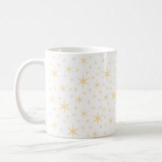 Color del modelo de estrella, blanco y no-metálico taza básica blanca