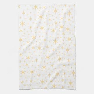 Color del modelo de estrella, blanco y no-metálico toallas de mano