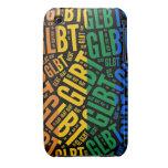 COLOR DEL MODELO DE LA PALABRA DE GLBT - .PNG iPhone 3 Case-Mate PROTECTOR