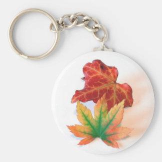 Color del otoño llavero redondo tipo pin