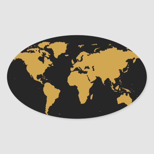 color del personalizable del ~ de los mapas del pegatina ovalada