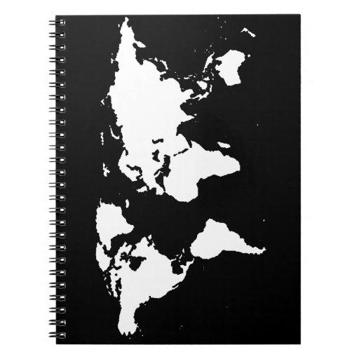 color del personalizable del ~ de los mapas del spiral notebooks