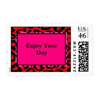Color del personalizado del guepardo de la cebra d sello