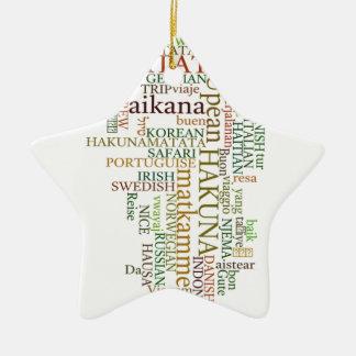 Color del regalo de Hakuna Matata Adorno Navideño De Cerámica En Forma De Estrella
