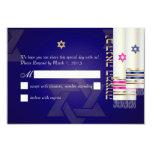 Color del rsvp talit/bnai mitzvah/diy de invitación 8,9 x 12,7 cm