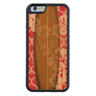 Color del tablero de resaca de funda de iPhone 6 bumper cerezo