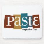 Color del URL del logotipo del bloque de la goma Tapetes De Raton