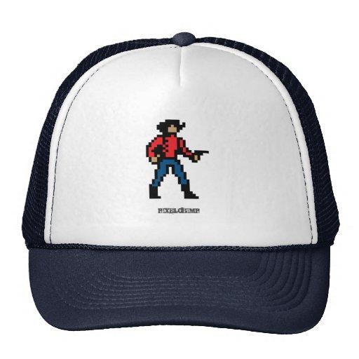 Color del vaquero del pixel gorra