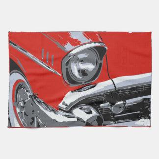 Color delantero del coche toallas de cocina