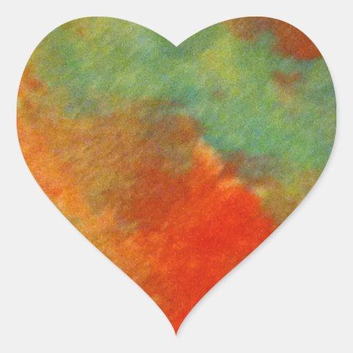 Color Design Heart Sticker