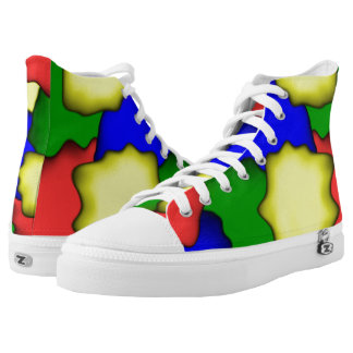 Color Design High-Top Sneakers