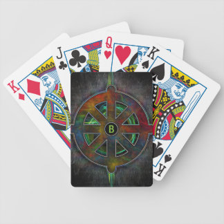Color Dharma Wheel of Energy Bicycle Playing Cards
