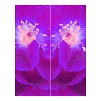 color digital del añil de la flor plantillas de membrete