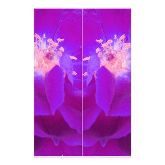 color digital del añil de la flor papeleria de diseño