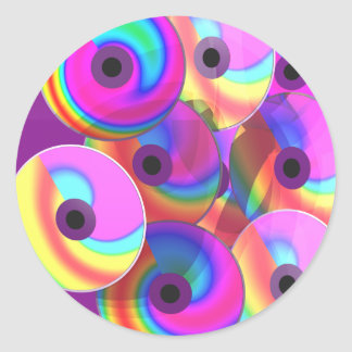Color Disks Stickers