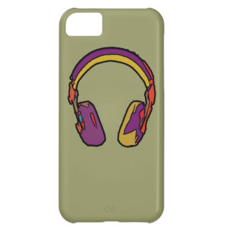 color dj headphone case for iPhone 5C
