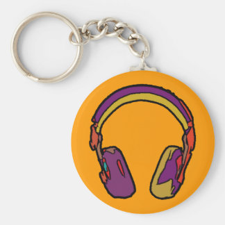 color dj headphone key chain