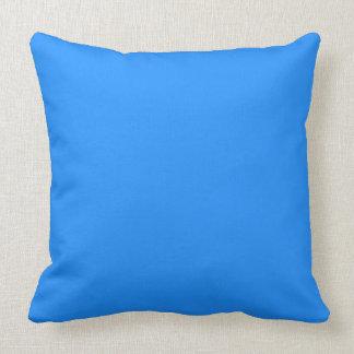 color dodger blue throw pillow