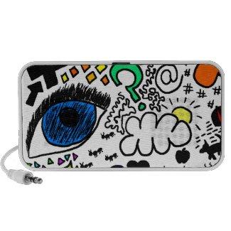 Color doodles travelling speaker