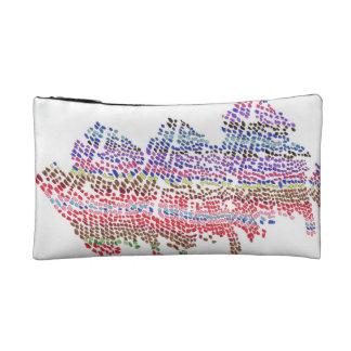 Color Dot Waves Makeup Bag