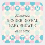 Color Dots Gender Reveal Baby Shower Sticker