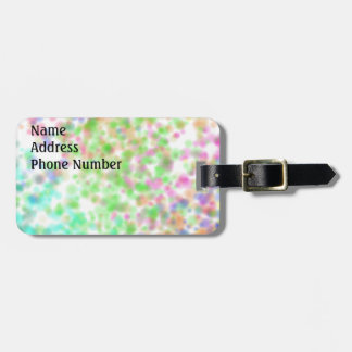 Color Dots Luggage Tag