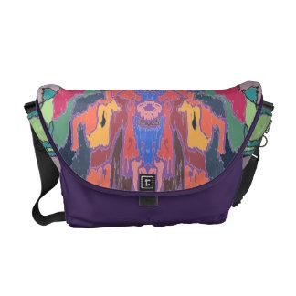 Color drip dry messenger bag