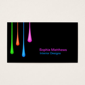 Color Drips Business Card