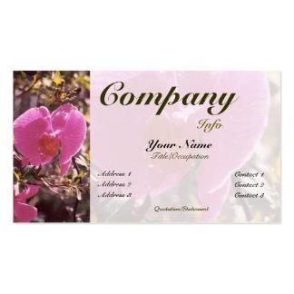 Color dulce floreciente del Guisante-personalizado Plantilla De Tarjeta De Negocio