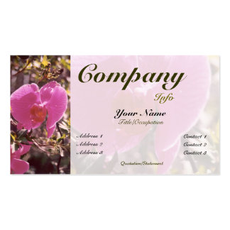 Color dulce floreciente del Guisante-personalizado Tarjetas De Visita