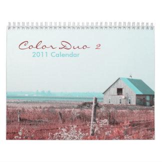 Color Duo 2 - 2011 calendar