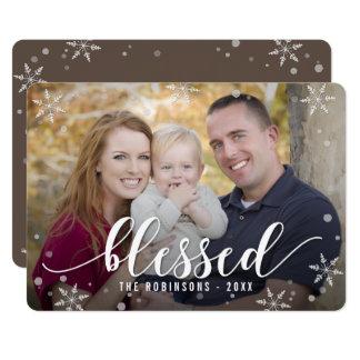"""Color Editable bendecido de la tarjeta de la foto Invitación 5"""" X 7"""""""