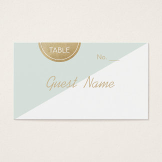 Color editable minimalist modern place cards