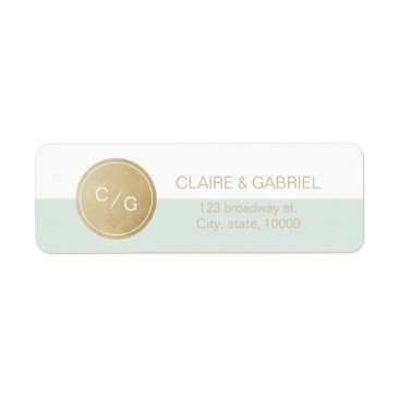 Beach Themed Color editable minimalist modern return address label