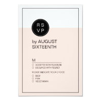 Color editable minimalist modern wedding RSVP Card