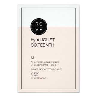 Color editable minimalist modern wedding RSVP Card