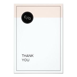 Color editable minimalist modern wedding thank you card
