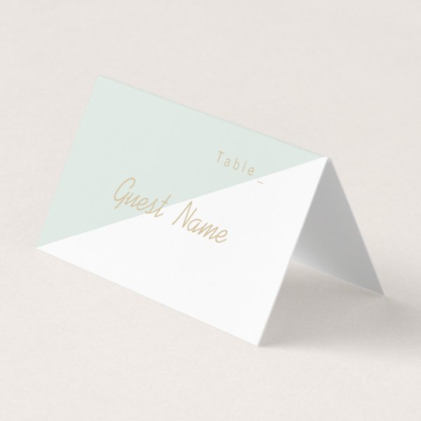 Color editable mint minimalist modern place cards