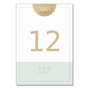 Beach Themed Color editable modern minimalist table number card